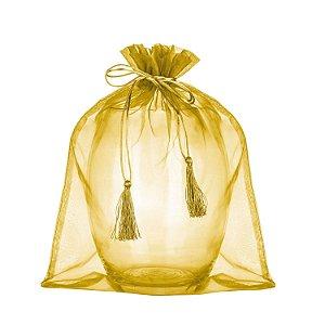 Saquinho de organza Ouro com pingente 45x36cm B155950