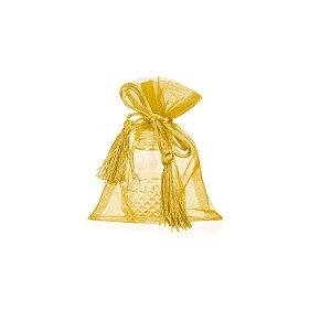Bag em Voil Ouro com pingente 14x11cm B15785