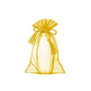 Bag em Voil Ouro com pingente 24x15cm B15787