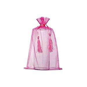 Bag em Voil Pink com pingente 35x21cm B155963