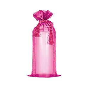 Saquinho de organza Pink com pingente 38x17cm B155964