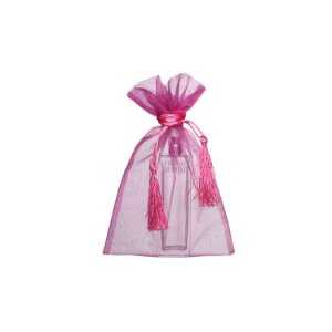 Saquinho de organza Pink com pingente 24x15cm B15C139