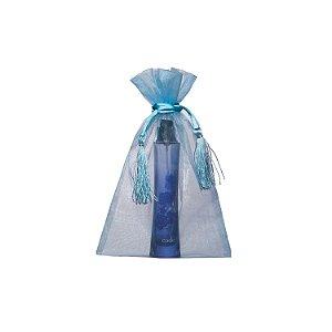 Bag em Voil Turquesa com pingente 24x15cm B15807