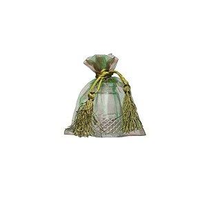 Bag em Voil Verde com pingente 10,5 x 8cm B15789