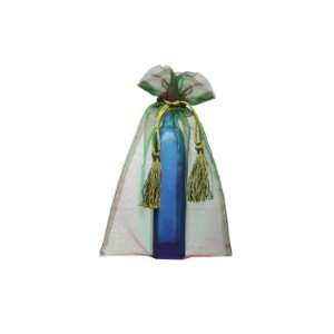 Bag em Voil Verde com pingente 24x15cm B15C138