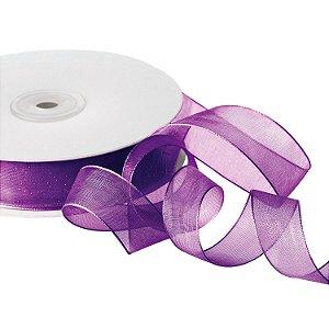 Fita Organza Violeta 1,90cm x 50m A206519