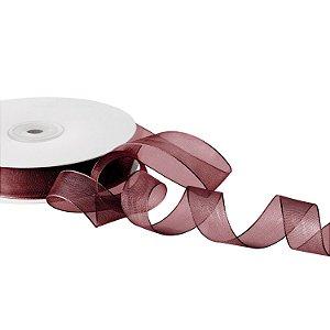 Fita Organza Chocolate 1,90cm x50m A208560