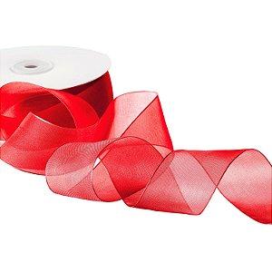 Fita Organza Vermelha 3,81cm x50m A20C765