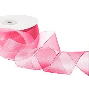 Fita Organza Rosa 3,81cm x50m A20C769