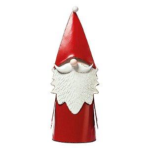 Noel vermelho em pé em metal F358648