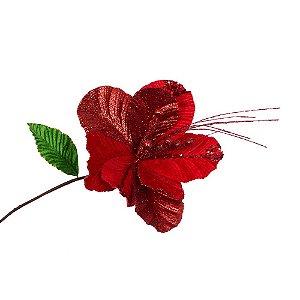 Poinsetia Vermelha Petalas Arredondadas G209364