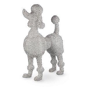Poodle prata em falsos diamantes G308541