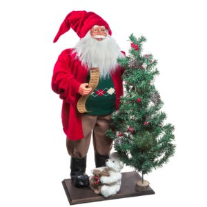Papai Noel c/ pergaminho e arvore de Natal G308467