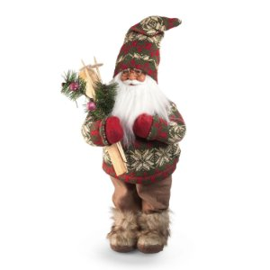 Papai Noel c/ esqui verde/vermelho G308470
