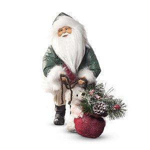 Papai Noel c/ ursa verde/vermelho G308471