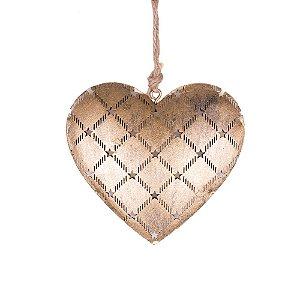 Coração p/ pendurar ouro em metal F359103