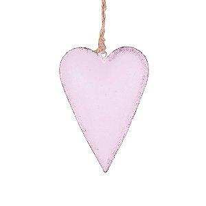 Coração p/ pendurar rosa M em metal F359119