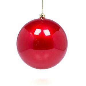 Bola perolizada vermelha 15cm G109258