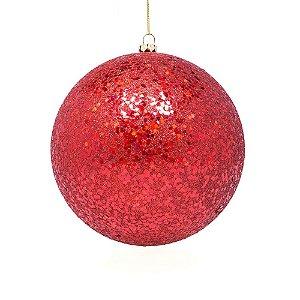 Bola vermelho brilhoso 14cm G109268