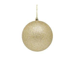 Bola ouro gliterado 8cm pacote com 6 bolas G109400