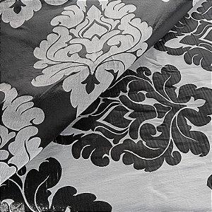 Tecido design dubai prata e grafite C205942
