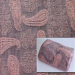 Tecido aveludado tons cinza e rosa C105294