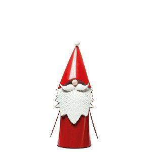 Noel vermelho em pé metal P F358647