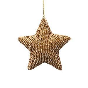 Pingente estrela com strass dourado F359381