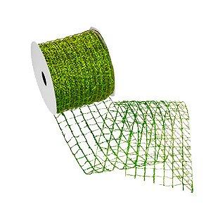 Fita telada verde gliterada A107898