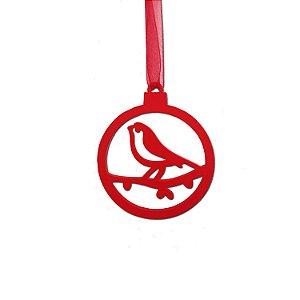 Bola plana pássaro vermelha 5 unidades G159467