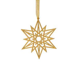 Estrela plana ouro velho 3 unidades G159471