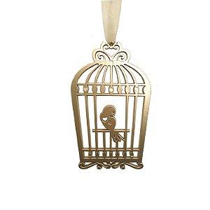 Gaiola  com pássaro ouro velho 3 unidades G159462