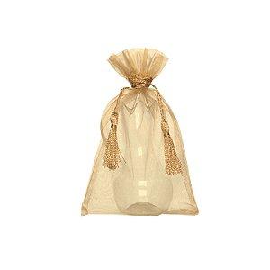 Bag voil c/ pingente nude 24x15cm B155891