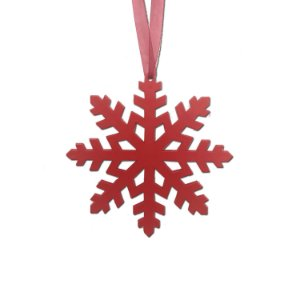 Floco de neve vermelho 3 unidades G159484