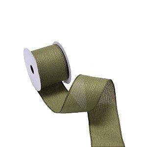 Fita aramada linho verde oliva A109828