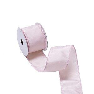 Fita aramada rosa claro tafeta A109840