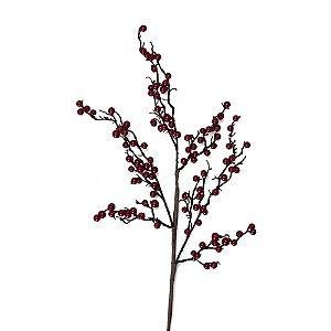Galho berries vermelhos espaçados G200623