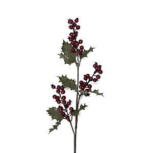 Galho berrie vermelho azevinho G200624