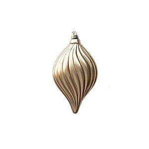 Bola pião dourado fosco 15x10cm - G150008