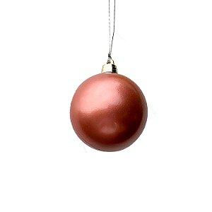 Bola rosa rosê 8cm com 4 unidades