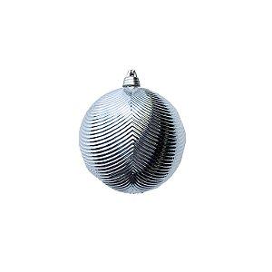 Bola Prata Piramidal  8cm c/4un - G150975