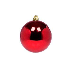 Bola Vermelha Lisa Brilho 10cm - G150976