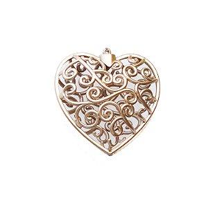 Coração Ouro Velho Arabesco 10x10cm - G150984