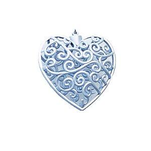 Coração Azul Arabesco 10x10cm - G150986