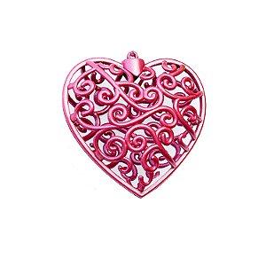 Coração Borgandy Arabesco 10x10cm - G150990