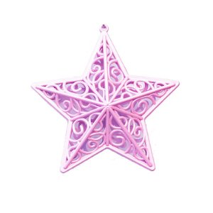 Estrela Rosa Arabesco 10x10cm - G150983