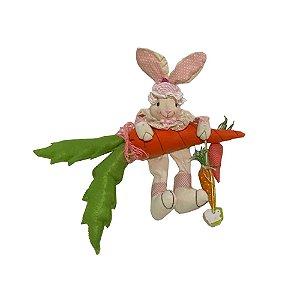 Coelho de pano com cenoura para pendurar A300008