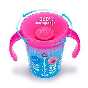 Copo treinamento 360 Deco Azul/rosa