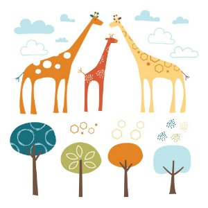 Adesivo de parede Safari de Girafas