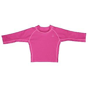 Camisa Iplay de banho- Manga longa rosa